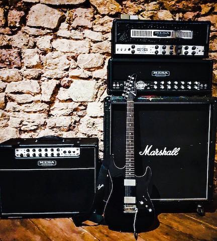 Gitarrist und Musiker, Fine Art of Guitar, Markus Holz, Equipment, Tom Anderson, VHT, Mesa Boogie, Soldano